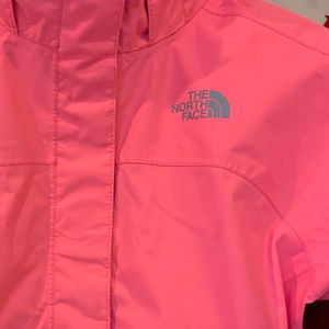 The North Face Girls Pink Coral Rain Jacket